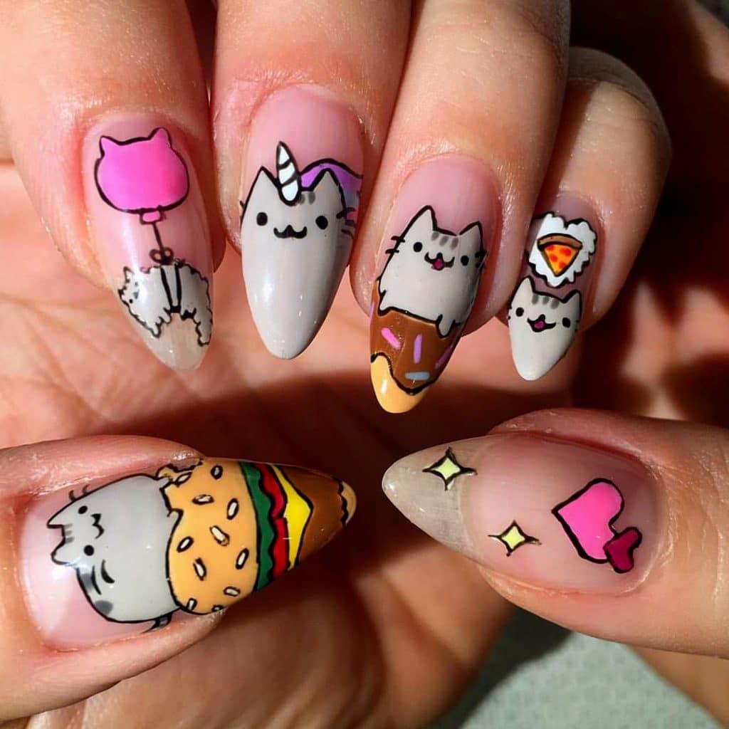 Простые прикольные рисунки на ногтях