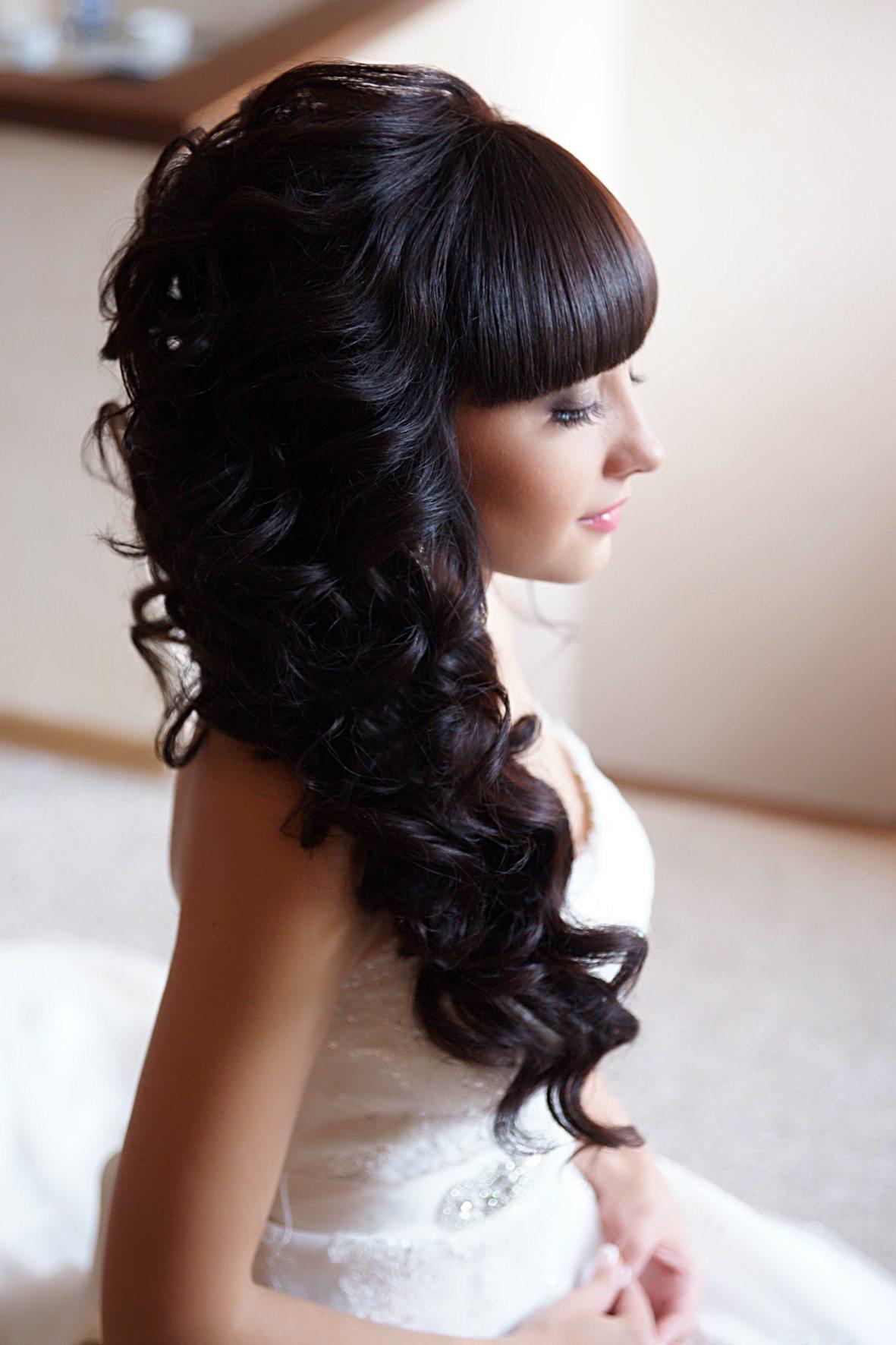 крупные рельефные прически длинные волосы с челкой фото они появились