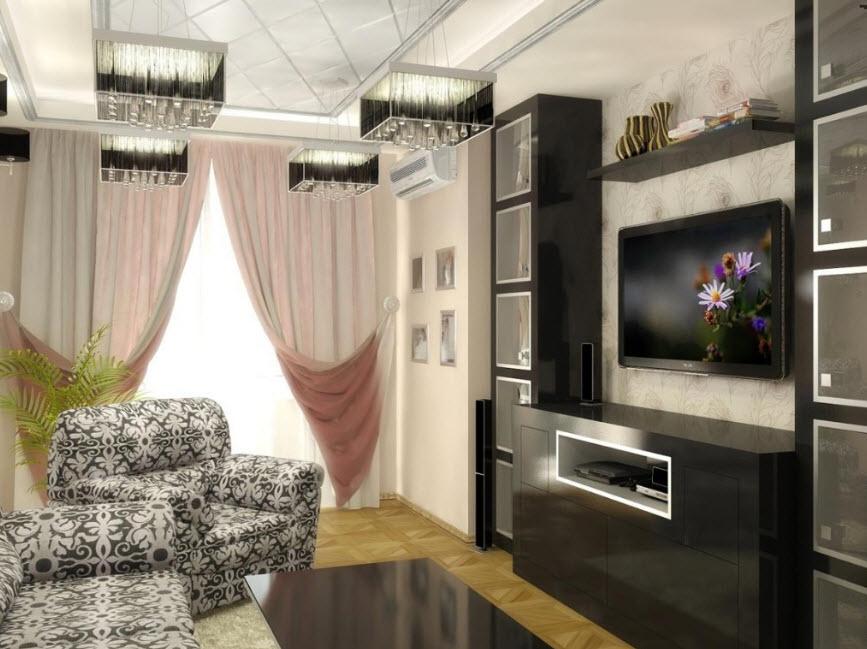 красивый дизайн небольшой гостиной фото горение бумаги