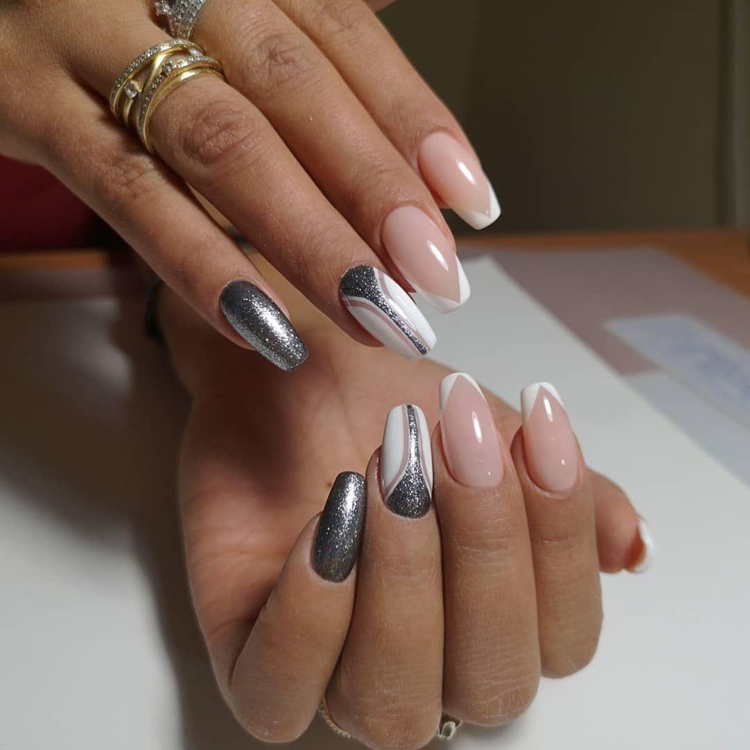 френч на ногтях фото серебро зависимости производителя