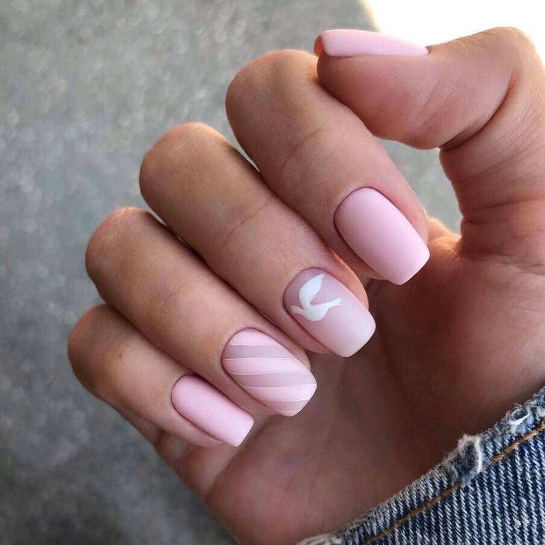 Квадратная форма ногтей на короткие ногти фото