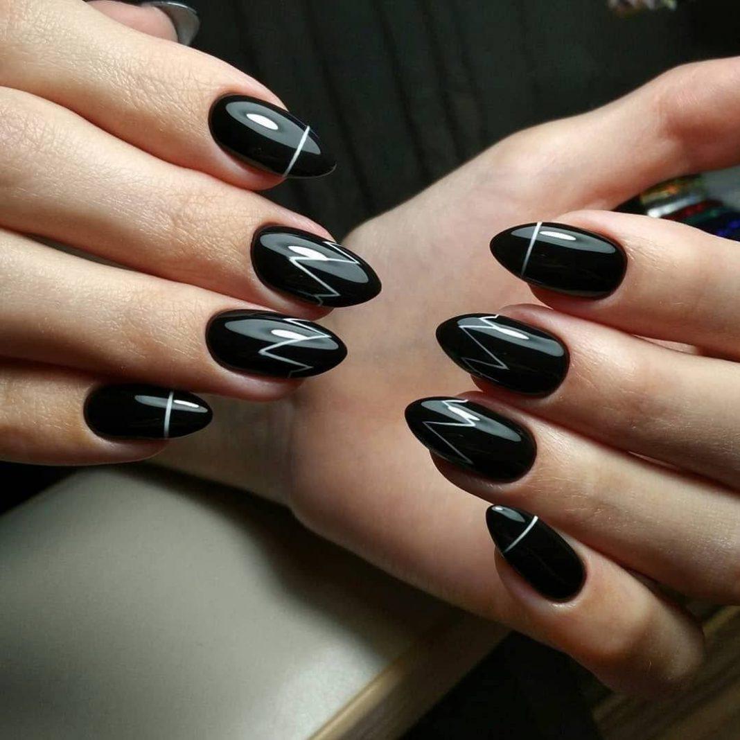 Дизайн ногтей новинки 2020г фото черные