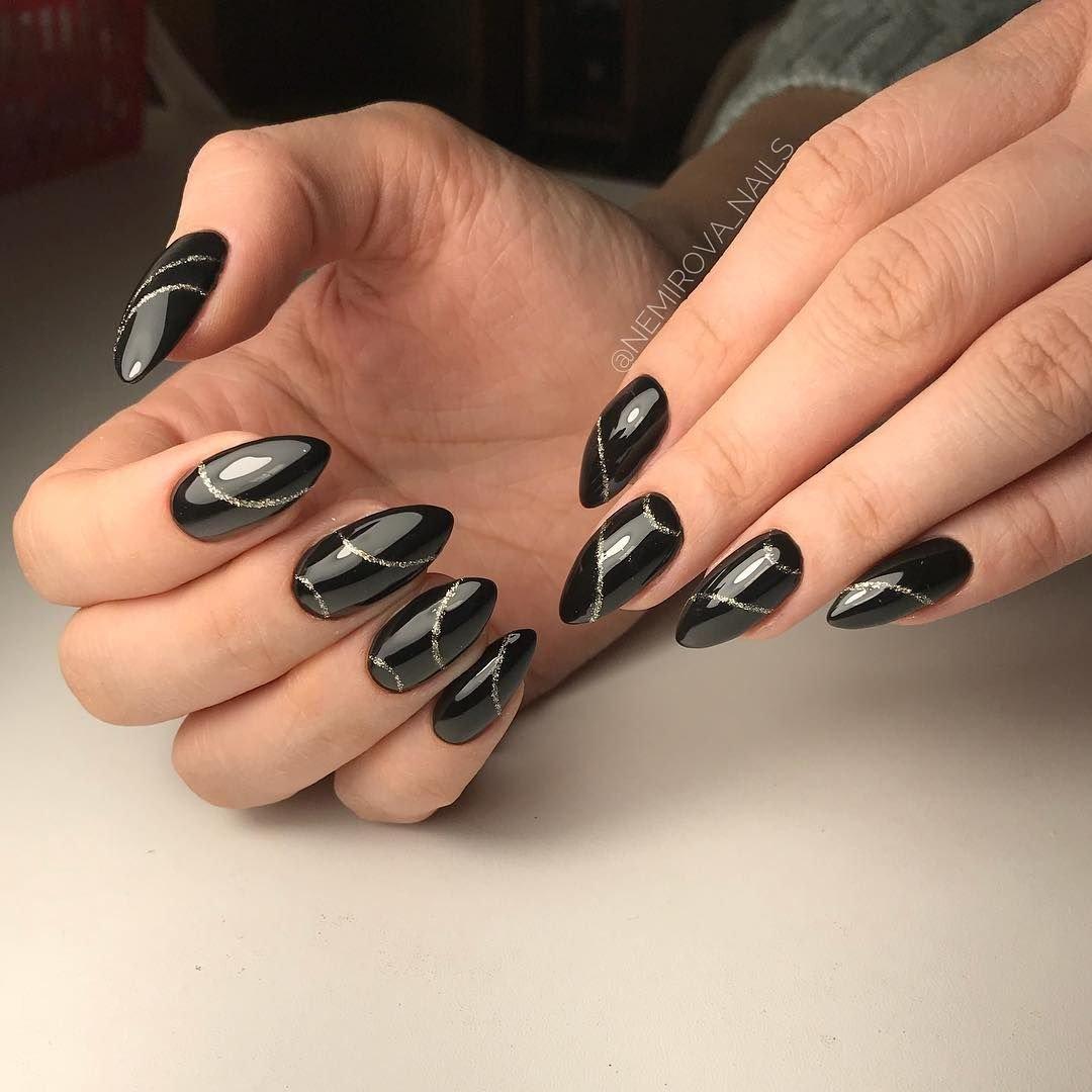 Дизайн ногтей 2020 фото темный