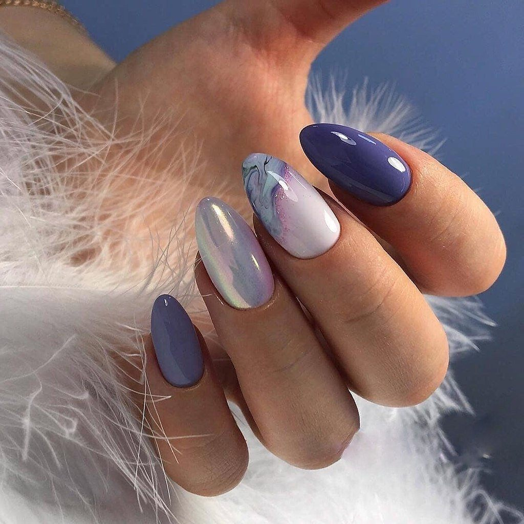 Гелевые ногти дизайн фото новинки 2020 миндалевидные