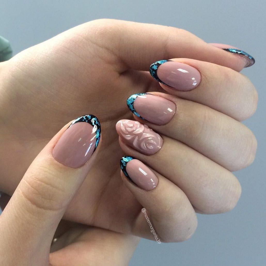 Фото красивого маникюра на круглые ногти нем менее
