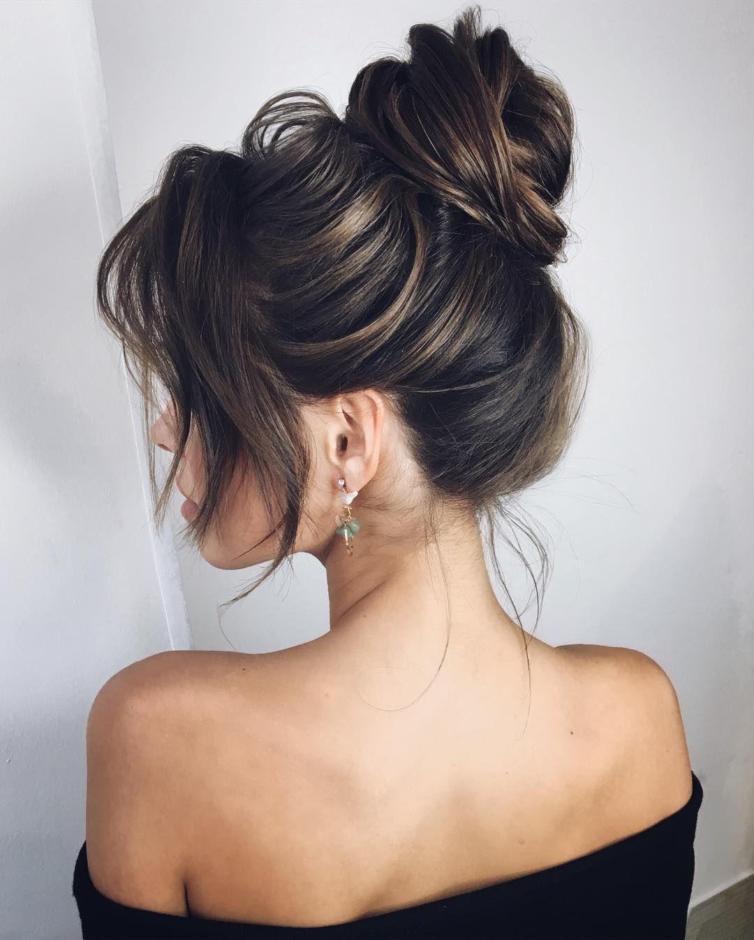 Как сделать красивый пучок из волос фото