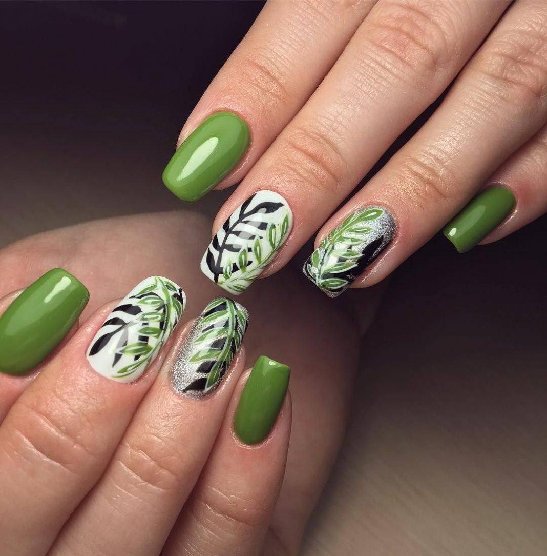 Зеленый гель-лак - 63 фото дизайна маникюра ногтей