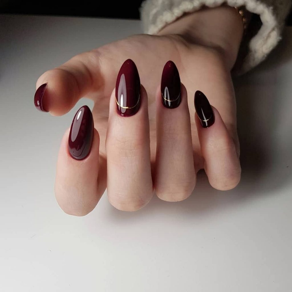 Фото ногтей винный маникюр