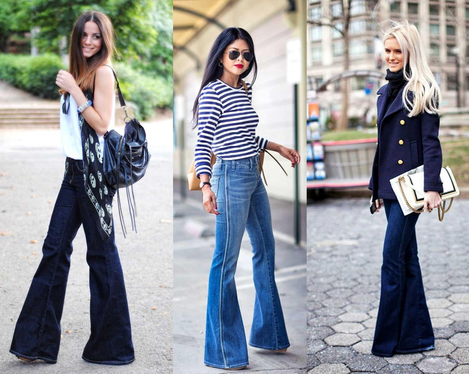 Джинсы клёш: стильные модели и новинки