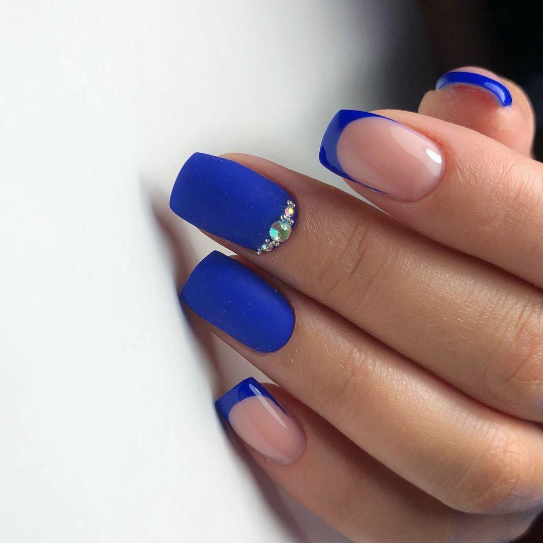 принципе видео маникюр синего цвета на короткие ногти фото мучить себя