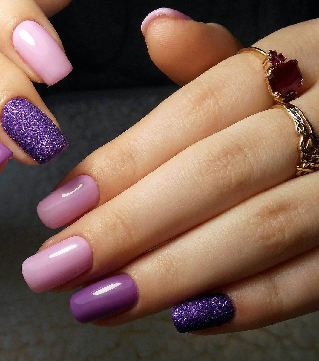 Сочетание гель лаков на ногтях фото