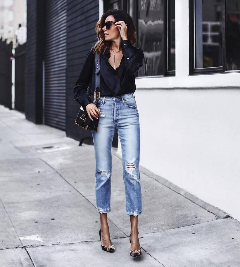Прямые джинсы: стильные модели и модные образы