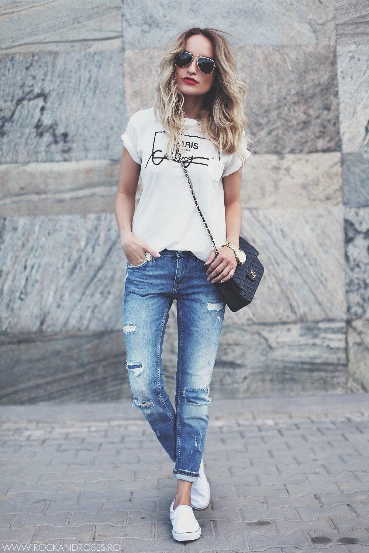 Джинсы и футболка: стильные идеи и модные тенденции