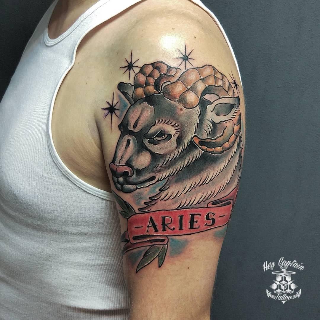 Идеи татуировок со знаком Овен: 70 лучших эскизов для мужчин и женщин