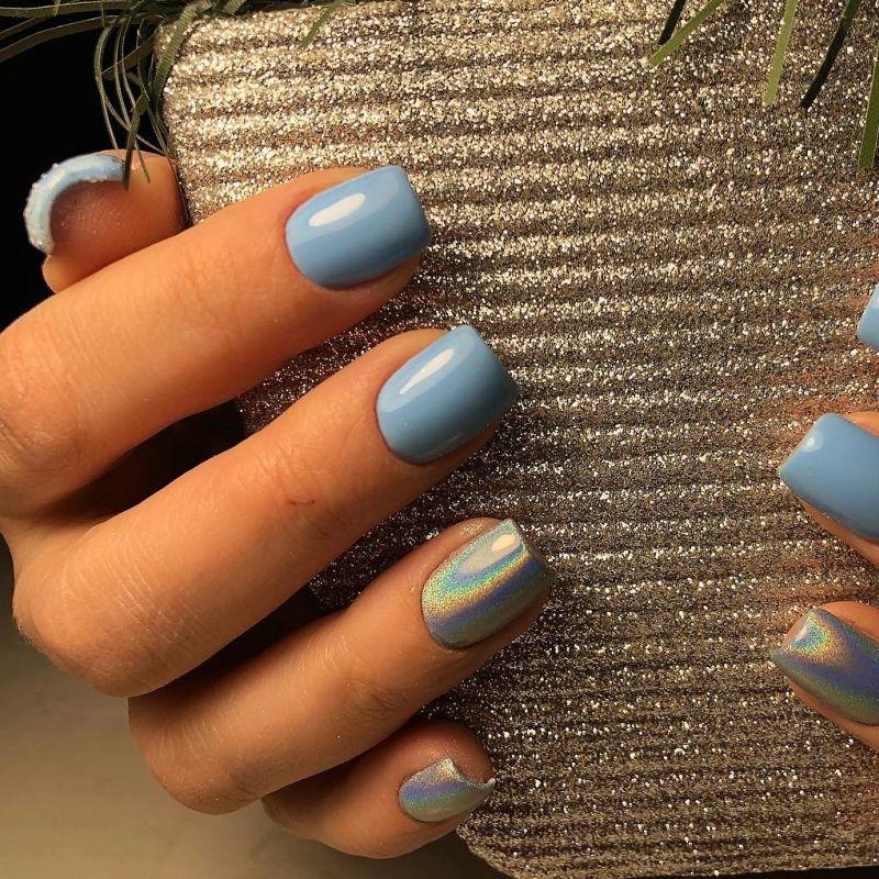 Самые очаровательные интерпретации голубого маникюра для лета 2020