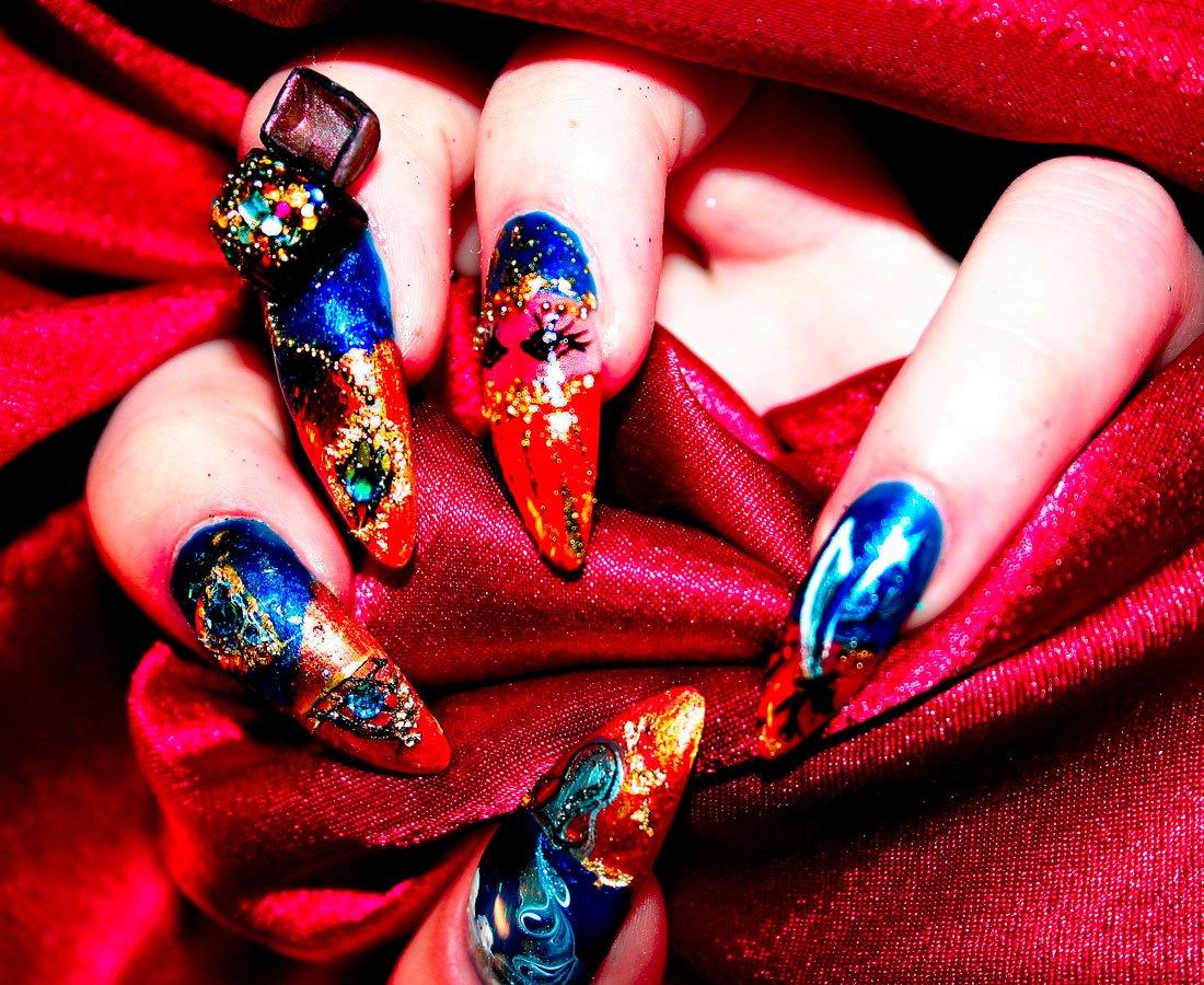 Аквариумный дизайн ногтей: 100 интересных фото на любой случай