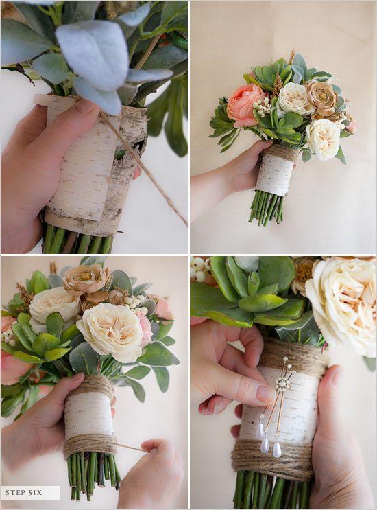 Букет невесты пошагово