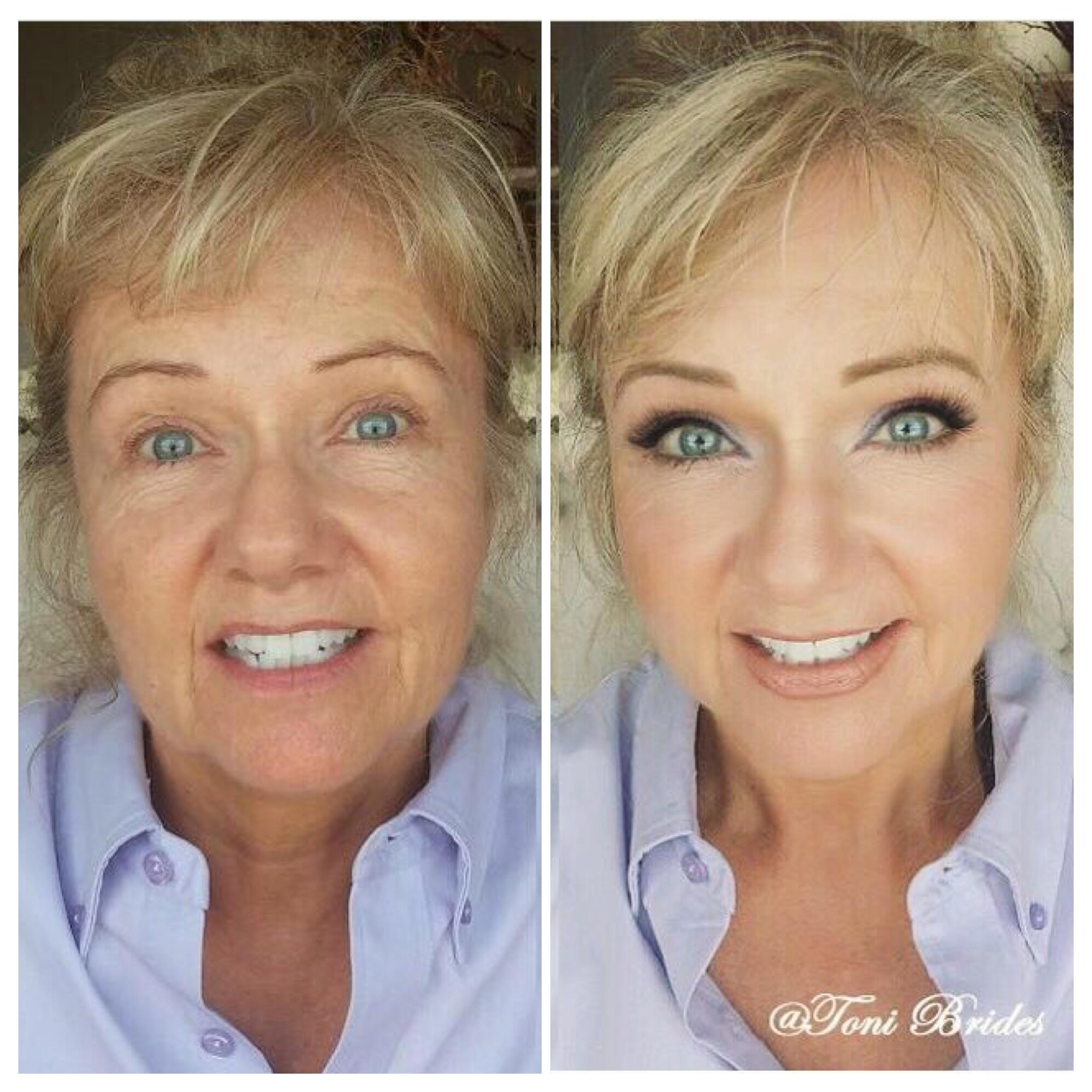 Макияж на взрослую женщину до и после фото
