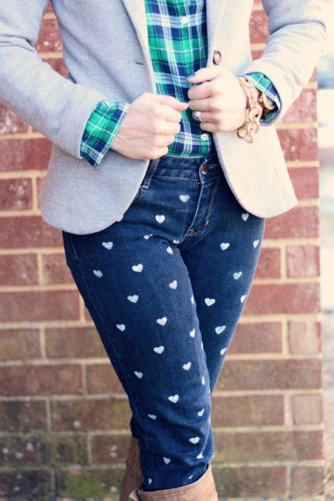 Дизайнерские джинсы женские своими руками 10