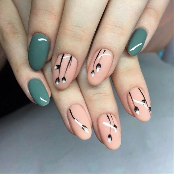 Фото шеллак на короткие ногти весна