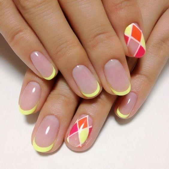 Идеи дизайна ногтей шеллаком френч