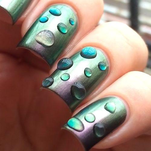 Фото ногтей с дизайном капельки