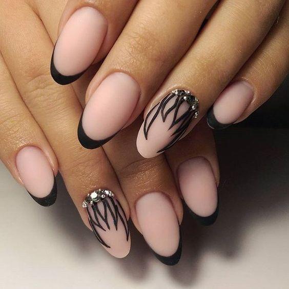 Дизайн ногтей черный 2017-2018 новинки