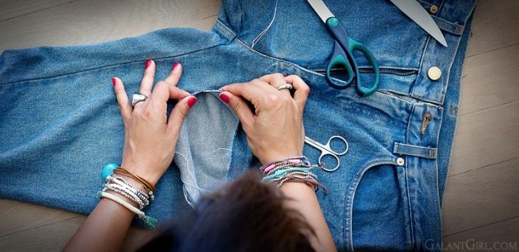 Как порвать джинсы инструкция с