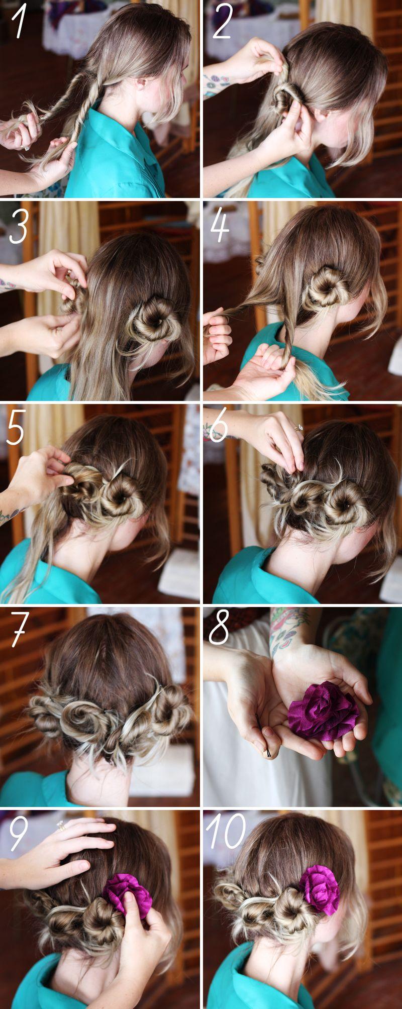 Как сделать модные пучки своими руками