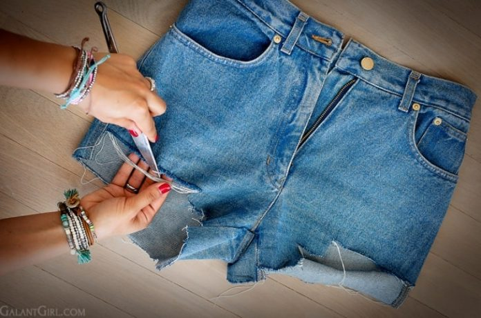Из штанов сделать шорты как