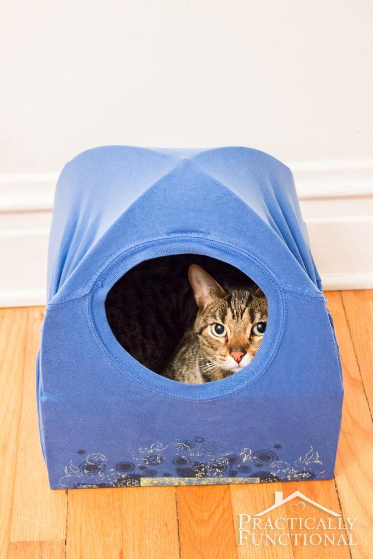 Домик для кошки из футболки Статьи 25