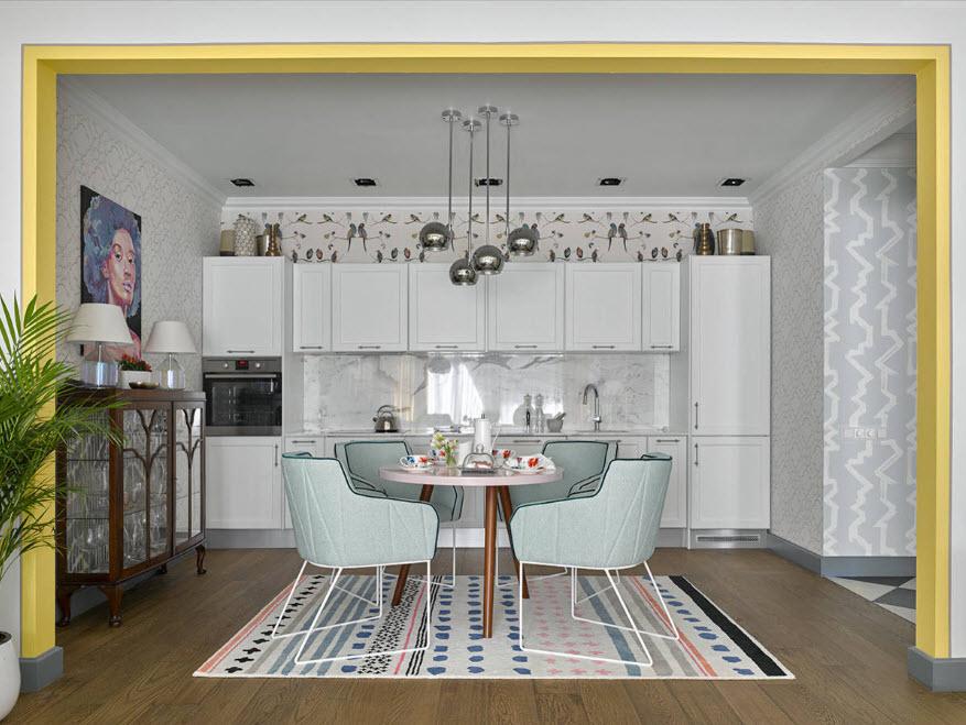 Интерьер кухни столовой 16 кв м фото 2015 современные идеи