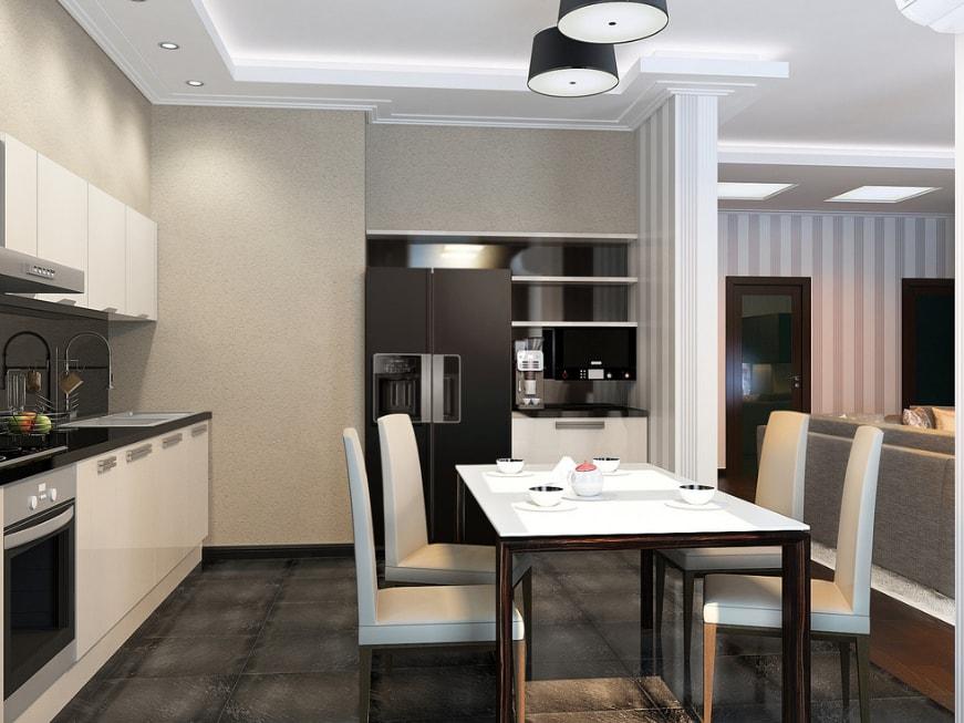 Дизайн кухни с гостиной 2017 современные идеи на 30 м