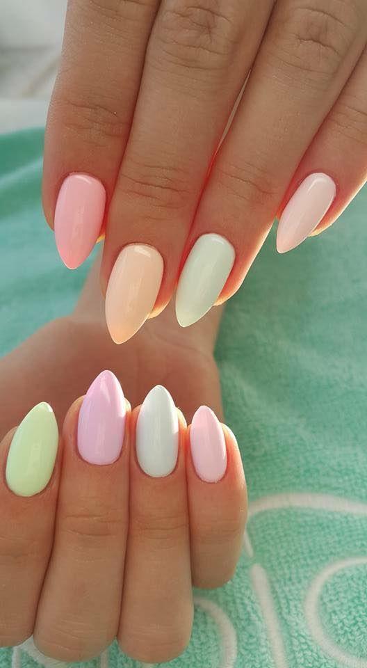 Модные цвета нарощенных ногтей