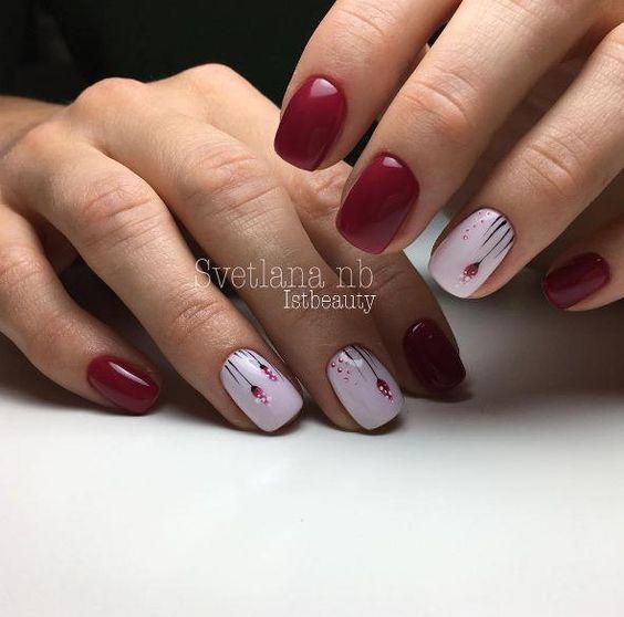 Дизайн ногтей цветы бутоны