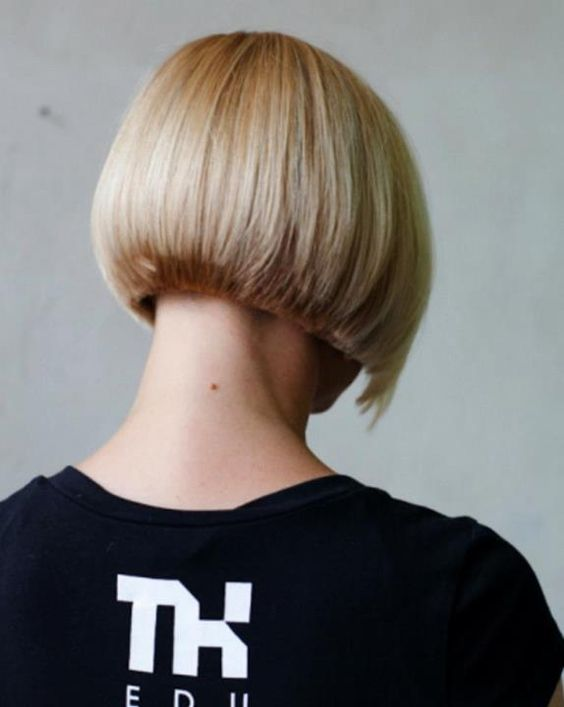Back view of bob haircut