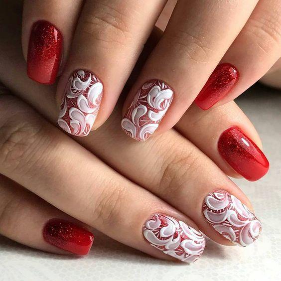 Дизайн ногтей красного цвета новинки