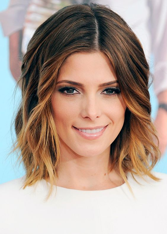 Стильное окрашивание волос на среднюю длину
