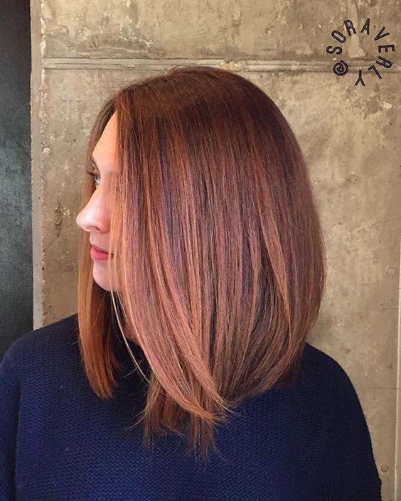 Прическа на средние волосы без челки 2018