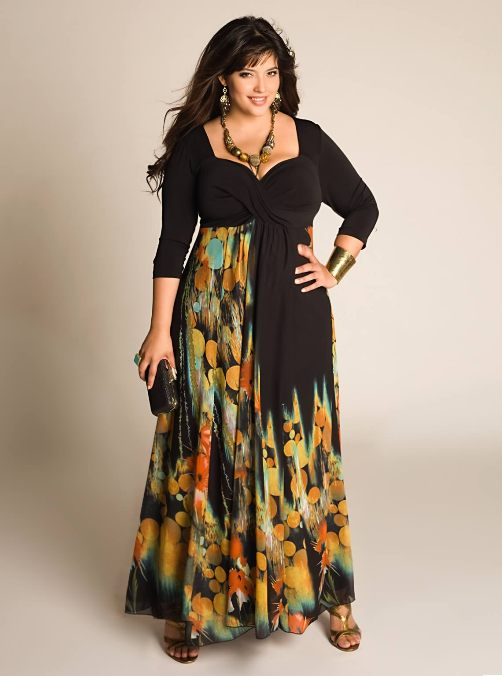 Фасоны платьев для пышек