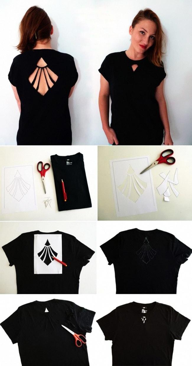 Как сделать модную майку из футболки
