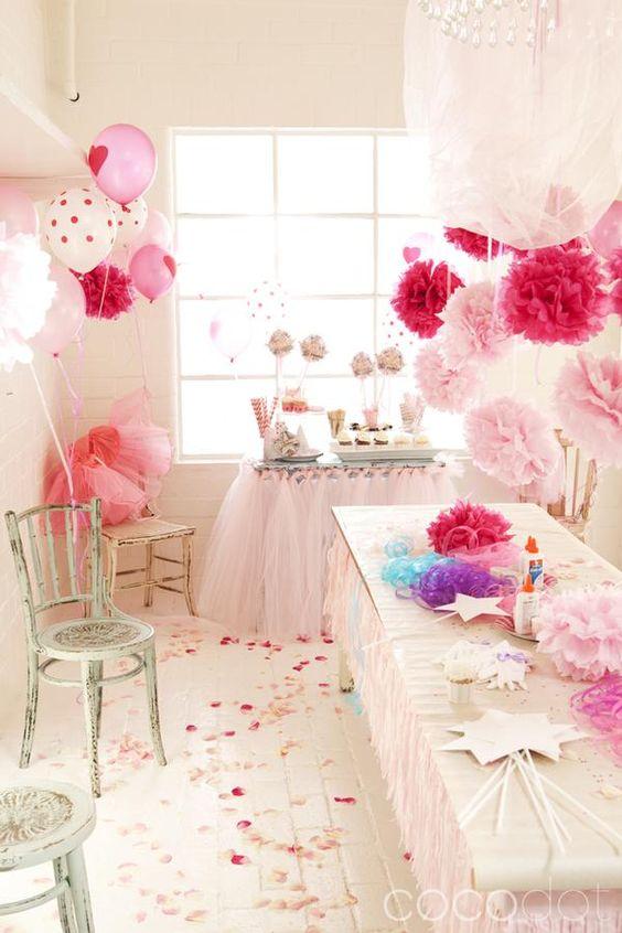 Оформление комнаты на день рождения своими руками для девочки