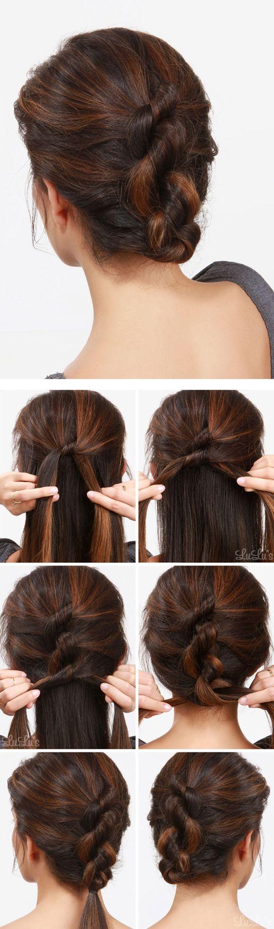 Как заколоть волосы на затылке в прическу