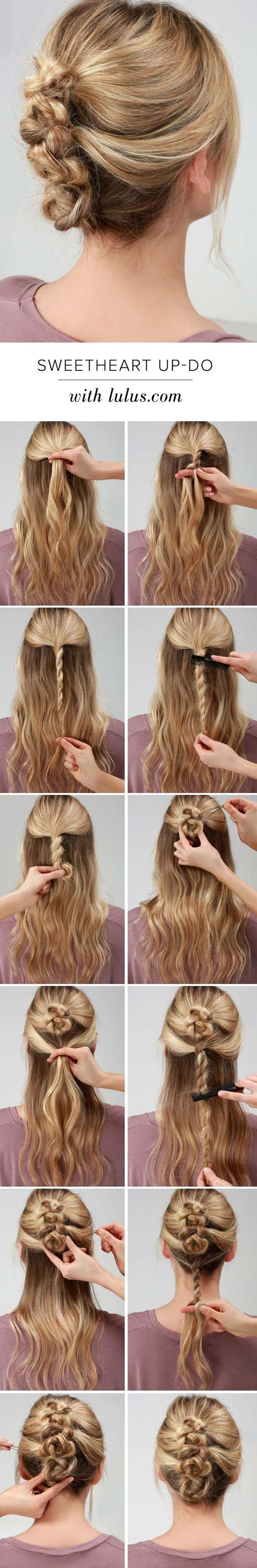 Элегантные прически на средние волосы фото на каждый день