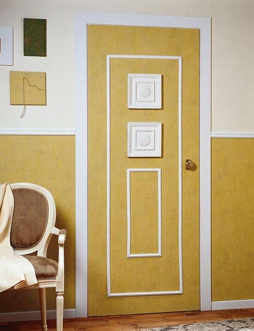 Как облагородить старую входную дверь своими руками 3