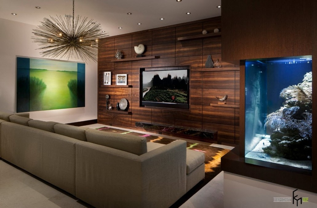 Дизайн стен с телевизором