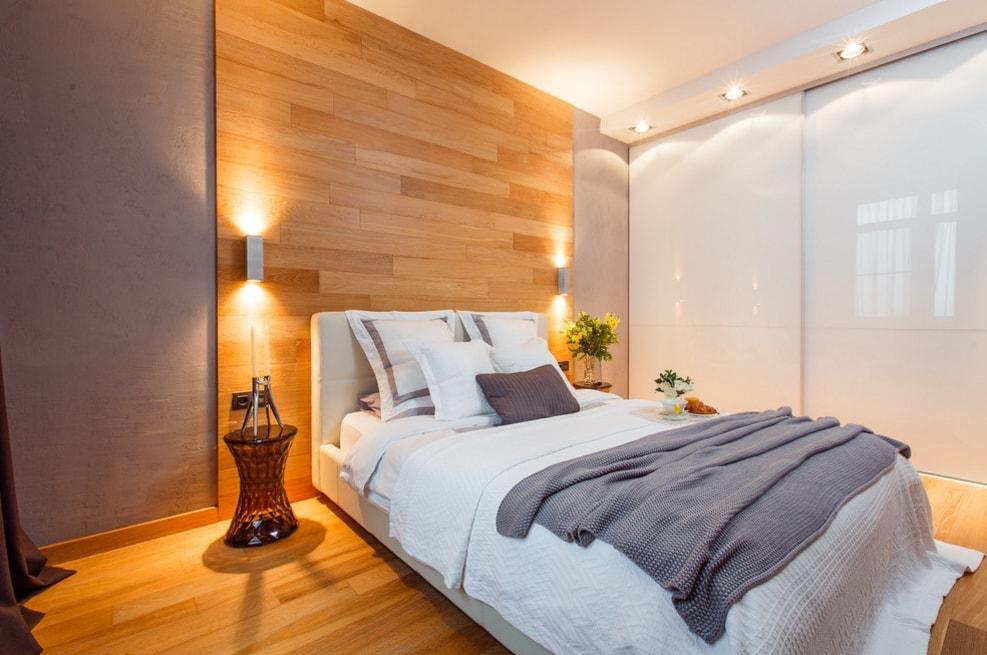 Фото дизайна спальни с ламинатом