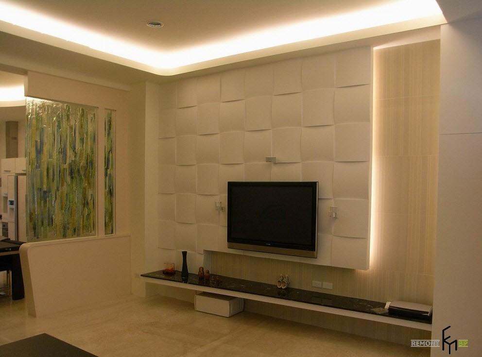 Панель под телевизор дизайн