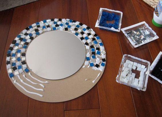 Рамки для настенных зеркал своими руками