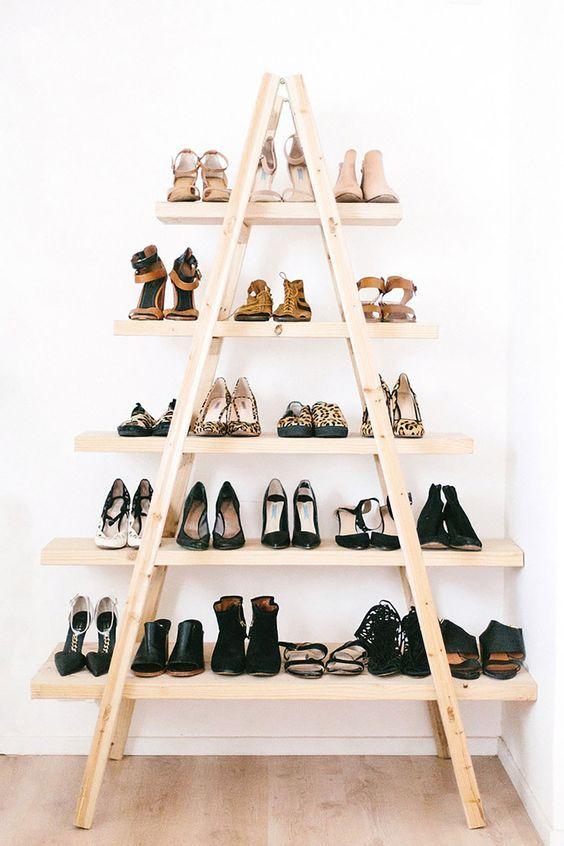 Деревянная этажерка для обуви своими руками 82